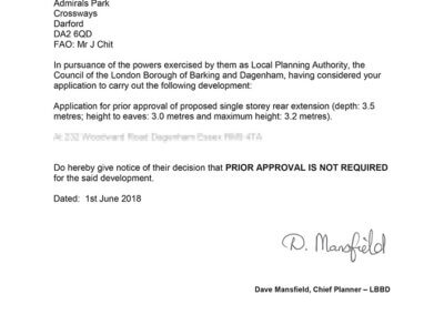 Approved Planning Application.